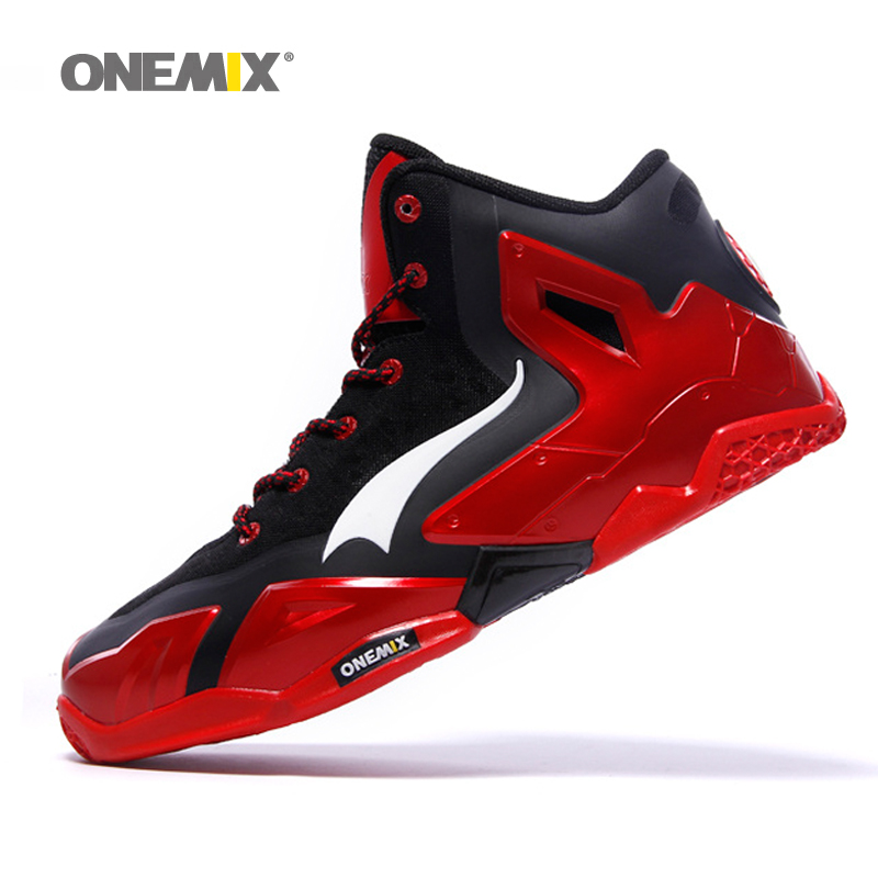 Onemix New Powerful Quality Basketball Shoes Men Basket Hot Authentic anti-slip basketball boots for outdoor plus size US7-US12 onemix basketball shoes for men top quality athletic sports sneakers anti slip basketball boots for outdoor plus size us7 us12