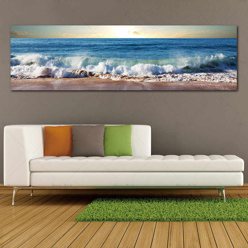 Wall art picture canvas print Beach Sea Landscape Canvas Painting posters and prints No Frame