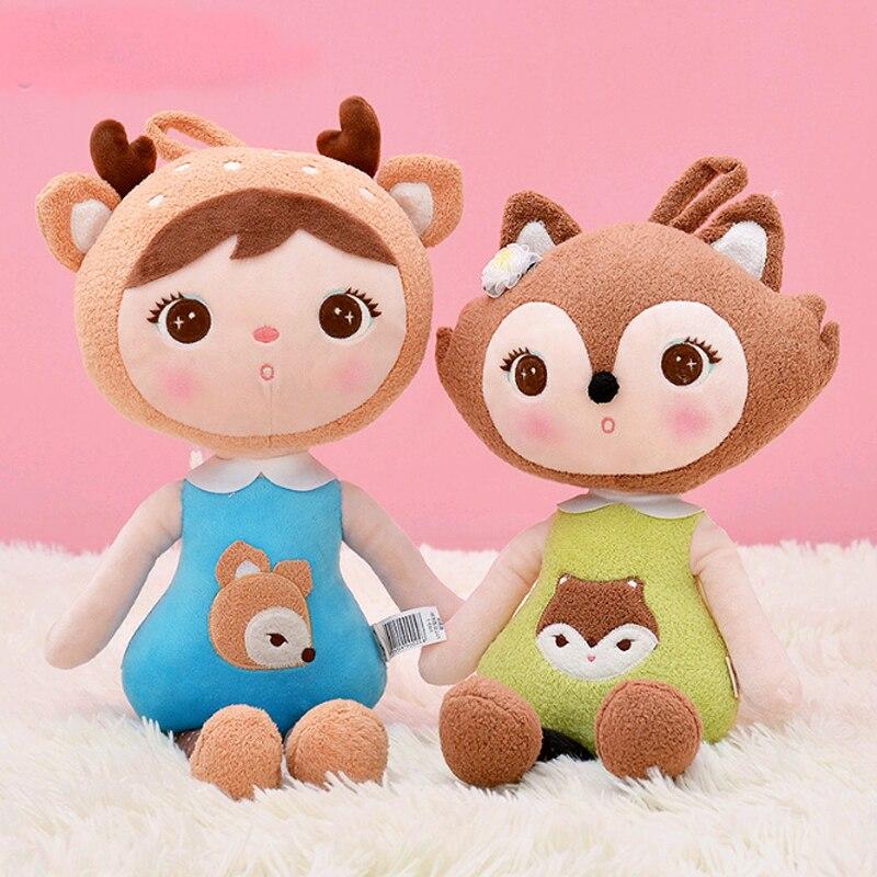 45cm Plush Sweet Cute Lovely Stuffed Kids Toys for Girls Birthday Gift Lady Bug Girl toy Keppel Baby Doll Panda Metoo doll