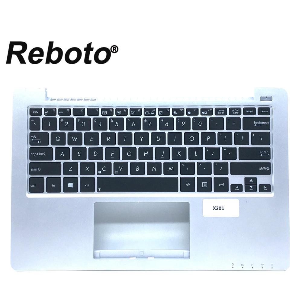 Reboto 95% NEW Original For ASUS X201 X201E Laptop Keyboard English US Layout silver