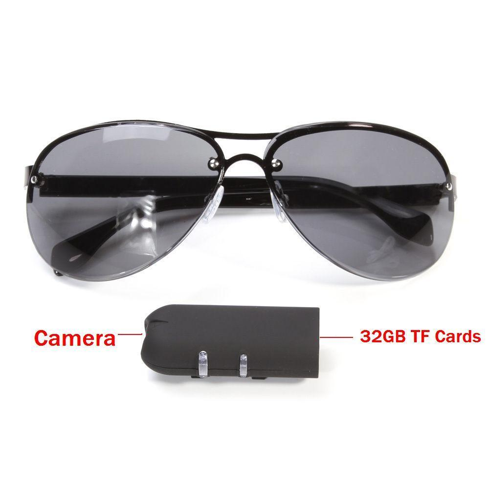 42793ae76c5bd Mini Câmera Óculos De Sol HD 1080 PGlasses Cam Ação Esporte Ao Ar Livre  Lente de
