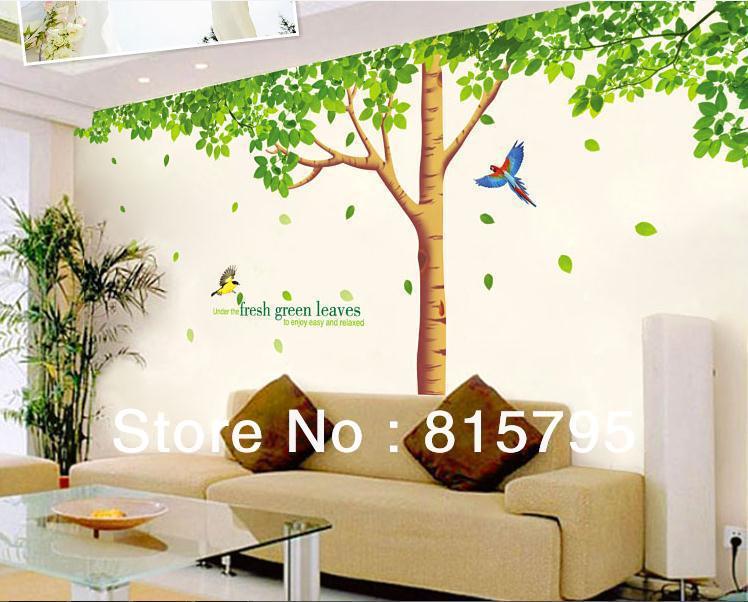 "free express giant 79""x130"" (200x330cm) xy1098abc green tree wall"