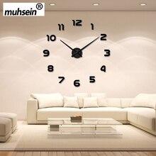 2019 New Metall Modern 3D DIY Wall Clock Acrylic+EVR+Metal Mirror home decoration Super Big 120cm x120 cm Factory Free shipping