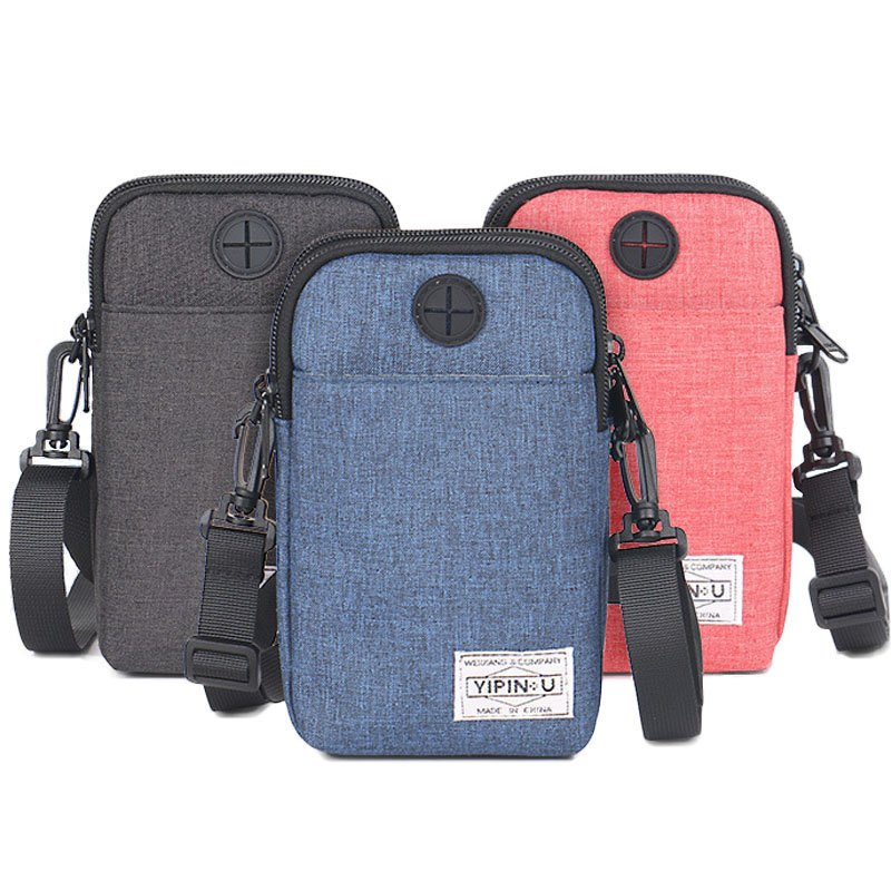 Unisex Hanging Neck Passport Bag Travel Organizer