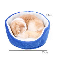 Lovely Round Cat Nest Kennel four Seasons Common Dog Bed  for Small Dogs Puppy Animals cat's house Cat Supplies Sofa Bedding