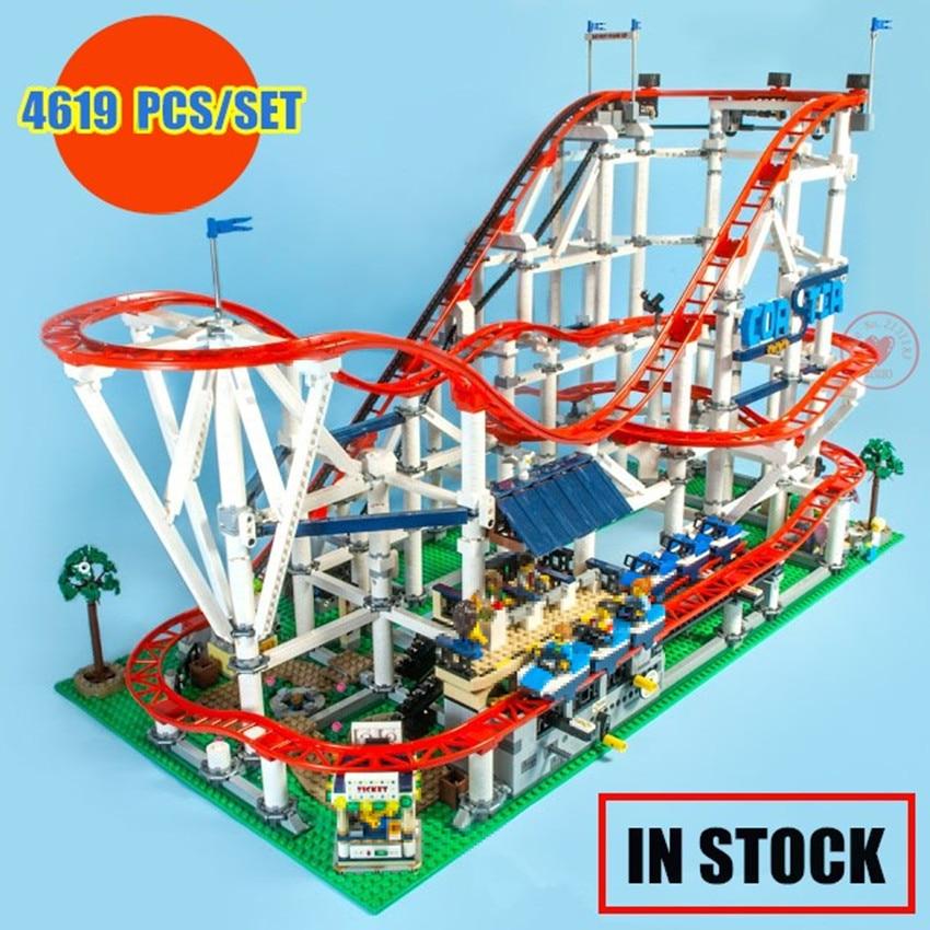 New 4619PCS The roller coaster fit legoings city creator technic figures Buidling Blocks Bricks 10261 Kid diy Toys birthday gift