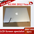 100% probados de trabajo libre del original para apple macbook pro retina 15 ''a1398 asamblea lcd full screen display 2012 mc975 mc976