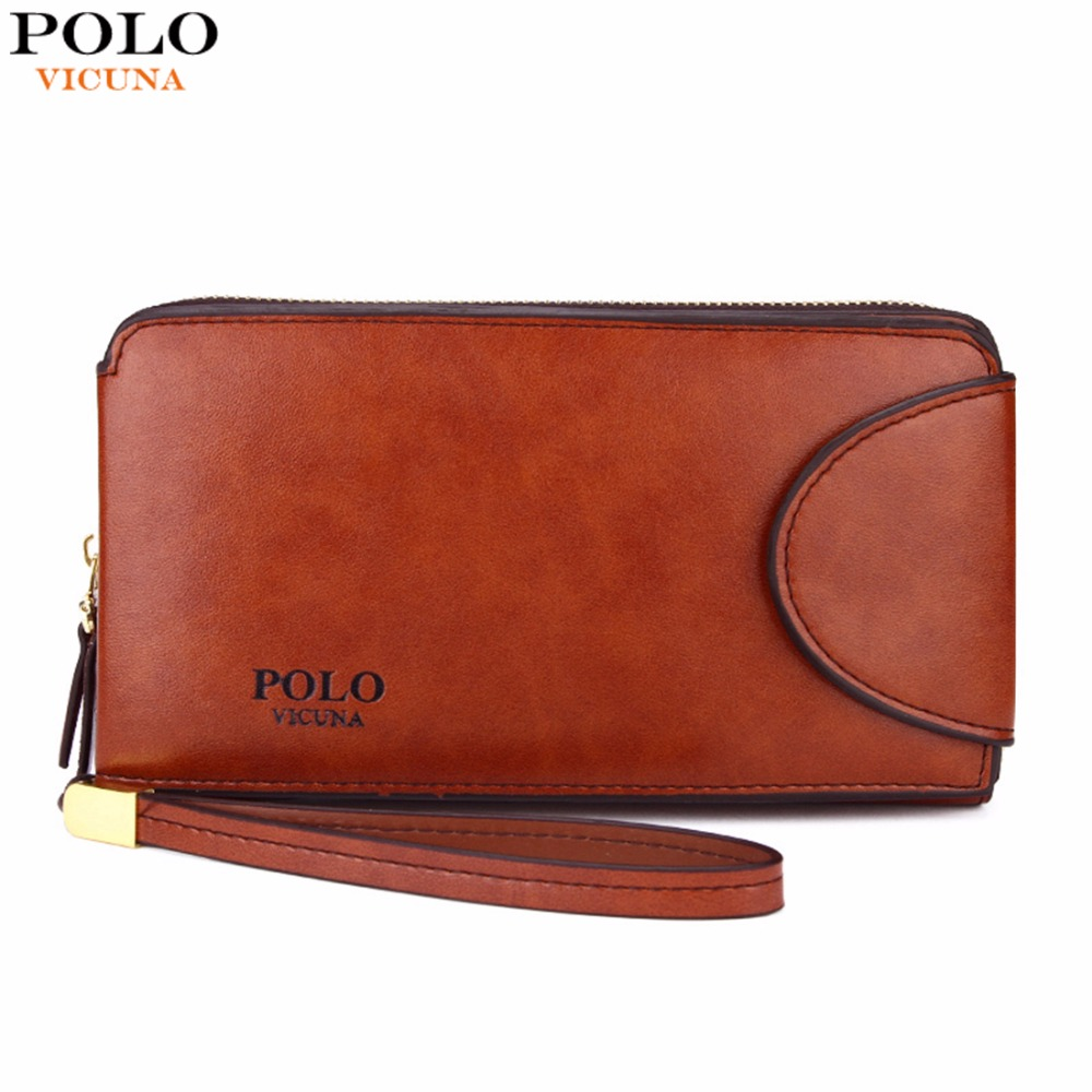 VICUNA POLO Hot Sell High capacity Business Leather Men Wallet With 16 Card Holders Burglarproof Large
