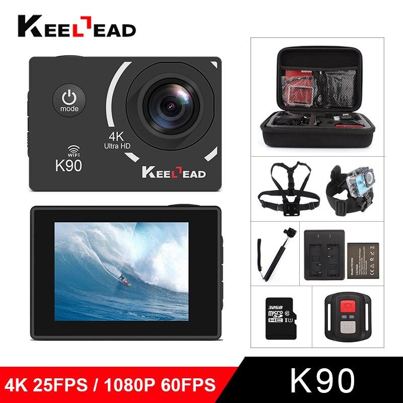 KEELEAD Action camera NTK96660 4K/24FPS 1080P/60fps wifi 170D 6G lens 2 0