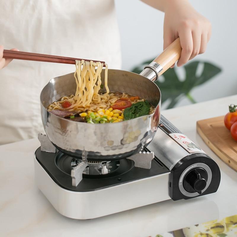 YEATION manche en bois cuiseur en aluminium japonais multifonction poêle à neige frit ustensiles de cuisine bouillis Stock Pots utilisation