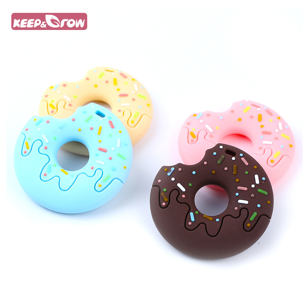 Doughnut Silicone Teether DIY Baby Toy Chewable Donut Teething Necklace Making