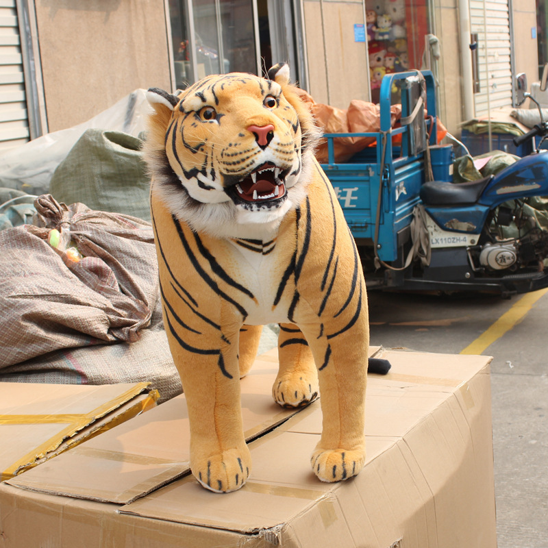 63cm Length Real Life Animal Tiger Toy Doll Station Plush Gift for the New Year Toys Children Juguetes Brinquedo