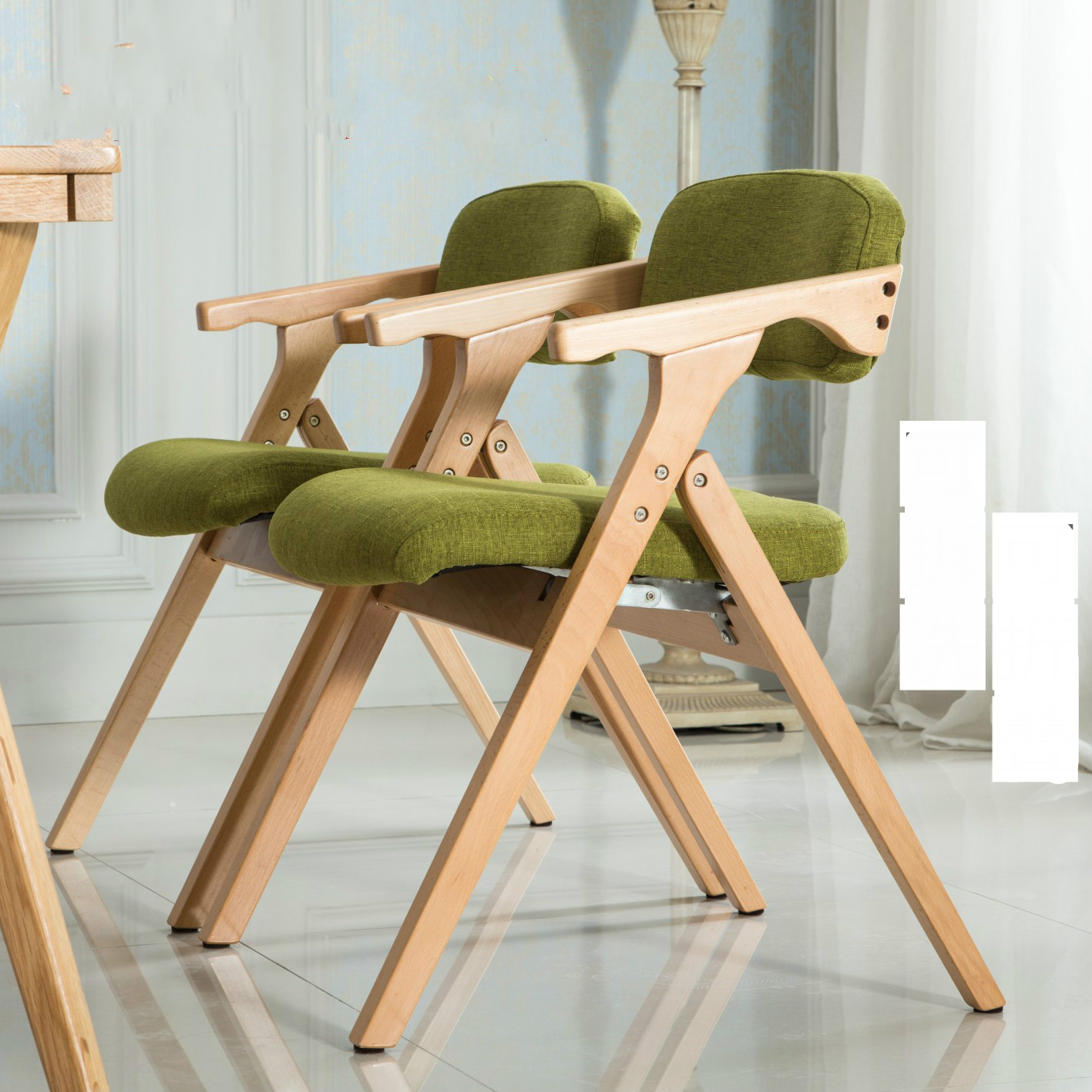 Nordic chair woodmensal modern minimalist folding chair for Chaise longue en bois pliante