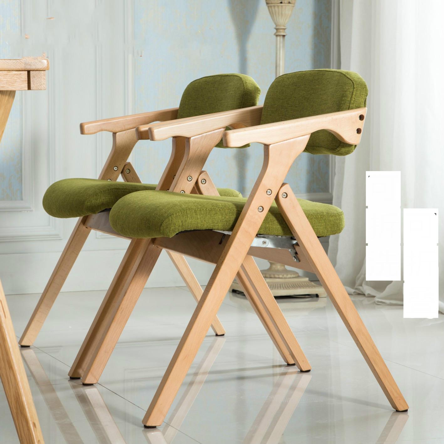 Nordic Stuhl Massivholz Modernen Minimalistischen Klappstuhl Freizeit Tuch  Abendessen Stuhl Computer Stuhl Esszimmer Möbel(China