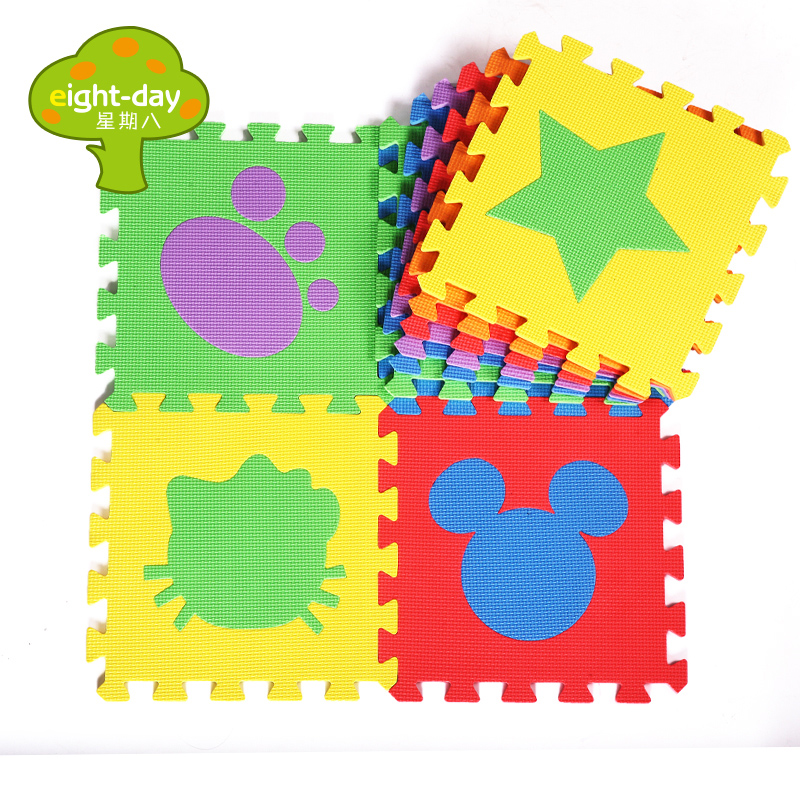 eight-day Children's Puzzle Mat Baby Play Mat Sets Kindergarten Flooring Foam Mat Home Interlocking Floor Mats 6 Pieces 30x30cm