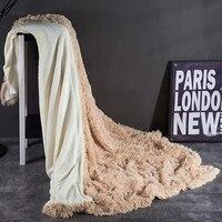 Super Soft Long Shaggy Fuzzy Fur Blanket Faux Fur Warm Elegant Cozy With Fluffy Sherpa Throw Bed Sofa king 220x240cm sheet
