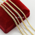 3mm 4mm Width For Unisex Men Women Yellow White Mix Color Gold Filled/Plated Link Chain Snail Necklaces New Jewelry