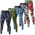 Mens Joggers 2016 Pantalones Medias de Compresión Hombres Camuflaje Leggings Pantalones Crossfit