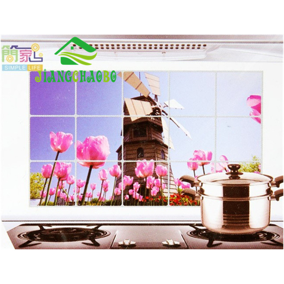 Decals Oil proof Aluminum Foil Stickers Keep Clean Kitchen Wall ...