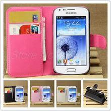 Capa para Samsumg Galaxy tendência Duos S7562 S7560 couro, caso carteira de luxo para Galaxy tendência Duos S7562 S7560 com suporte de cartão suporte Flip casos saco do telefone móvel