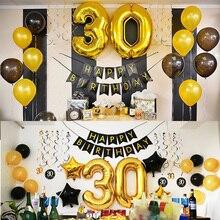 50 украшений для вечеринки на день рождения, 30, 40, 50, 60 лет, украшение на день рождения, баннер с цифрами, воздушный шар Globos 50, годовщина свадьбы
