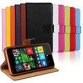 K00270 Сплошной цвет Подлинной ПУ Кожа Откидная Крышка Бумажник Слот Для Карты Чехол с Подставкой для Microsoft Lumia 640 (разных Цветов)