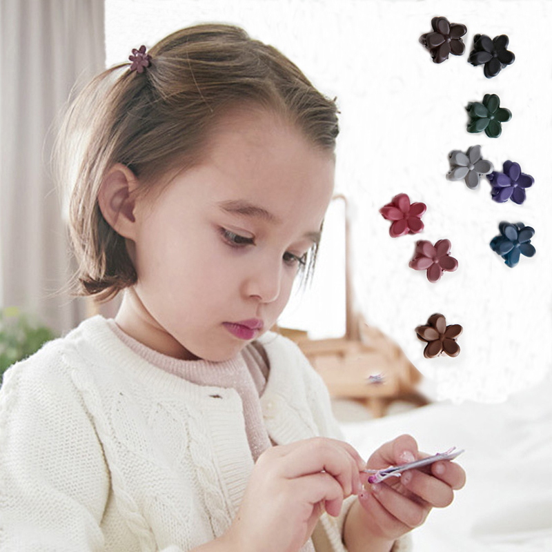 5 pcs/Lot Hot Sale Korean Hair Accessories Candy Colors Small Flower Hair Claws Gripper Cute Kids Girls Plastic Hairpins 5 pcs lot hot sale korean hair accessories candy colors small flower hair claws gripper cute kids girls plastic hairpins
