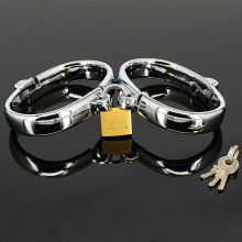 60*78mm Metal Handcuffs Ankle cuffs for sissies and crossdressers