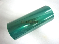 1x 230 мм * 33 м * 0,06 мм зеленая ПЭТ пленка лента, высокая термостойкость, для PCB покрытия, пайки, порошковое покрытие для маскировки