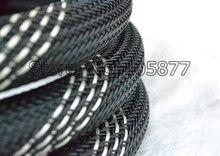 Gaine tressée en Nylon de maille de 16 MM pour les manchons de câble de cordon dalimentation de bricolage 10 m