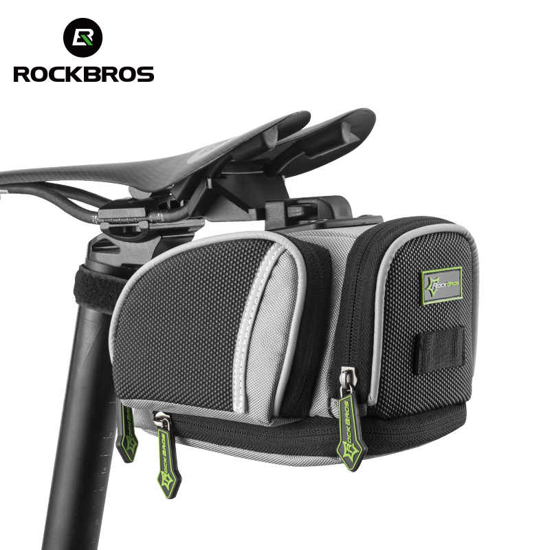 ROCKBROS Cycling Saddle Bags Mountain Road Bike MTB Seat Post Bag Fixed Gear Fixie Cycle Rear Bags Bicycle Accessories 3 Colors