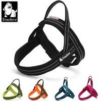 Truelove Soft Mesh Padded Nylon Dog Harness Vest 3M Reflective Security Dog Collar Easy Put On