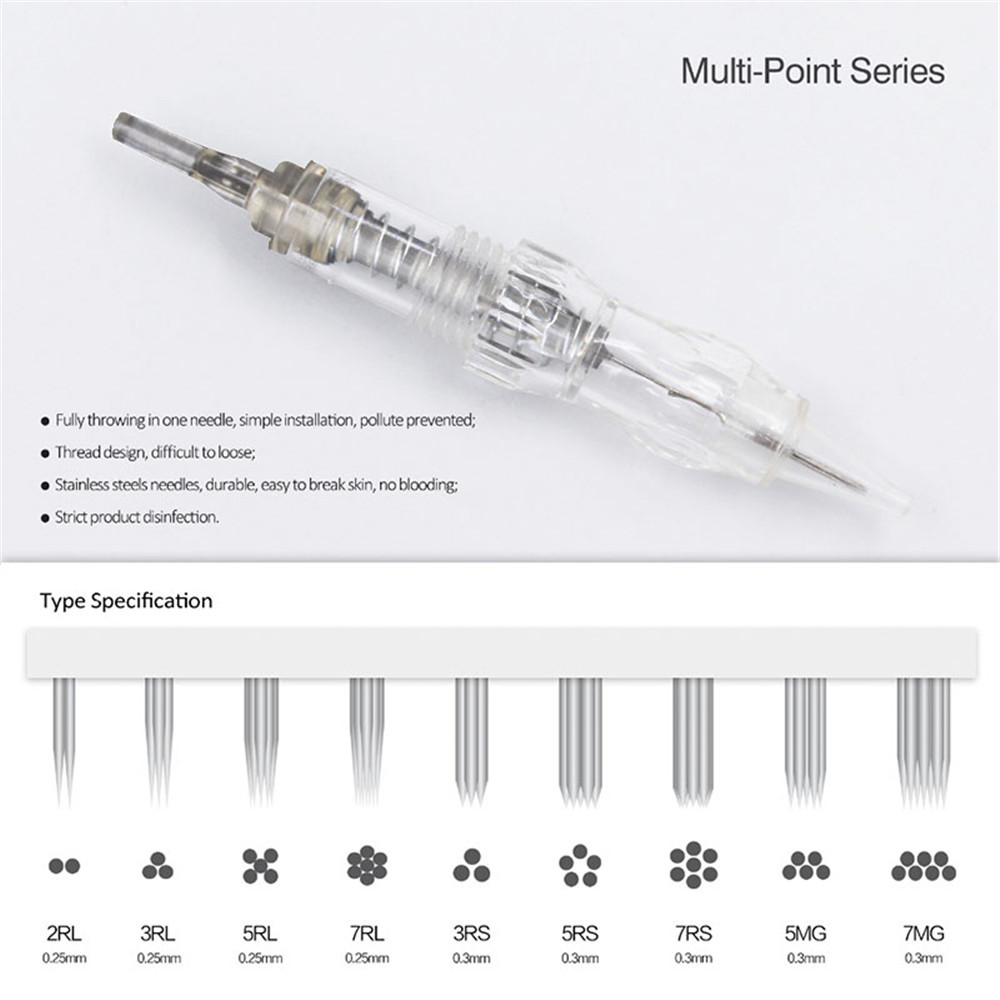 Image 2 - 10pcs Cartridge Needle 3RS 5RS 7RS Permanent makeup Needles Disposable for Eyebrow lip Makeup Pen Tattoo Machine Needles Tips-in Tattoo Needles from Beauty & Health