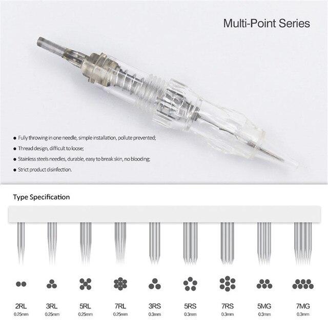 10pcs Cartridge Needle 3RS 5RS 7RS Permanent makeup Needles Disposable for Eyebrow lip Makeup Pen Tattoo Machine Needles Tips 2