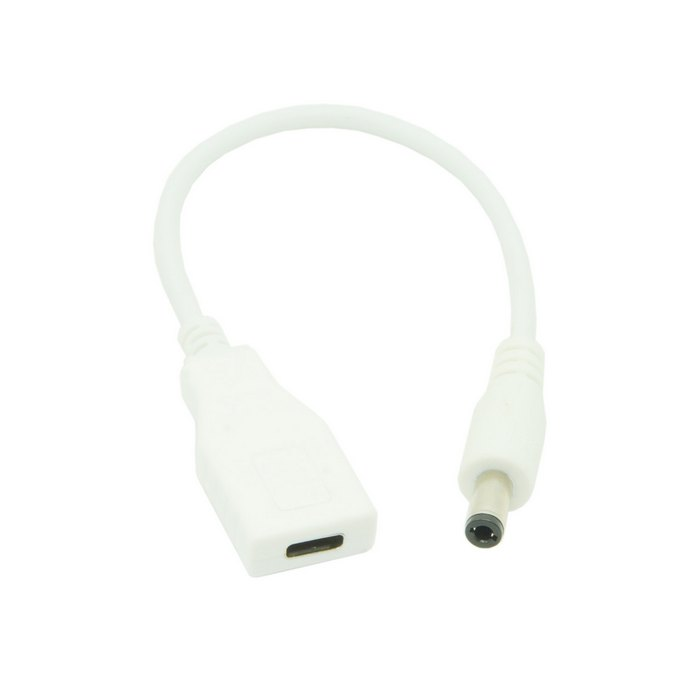 Купить White Usb 3.1 Type C Usb-C Female To Dc 5.5 2.5Mm Power Plug Extension Charge Cable 10Cm For Laptop Macbook