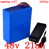 48v battery 2000W 48V 20AH ebike battery 48V electric scooter battery 1000W 48V 20AH lithium ion use samsung cell with charger