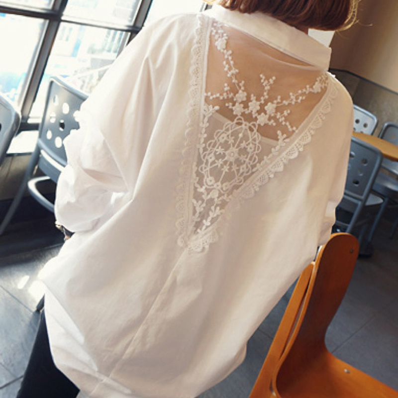 2018 summer floral women shirts long sleeve shirt women tops cotton blusas femininas turn down collar casual blouse wome