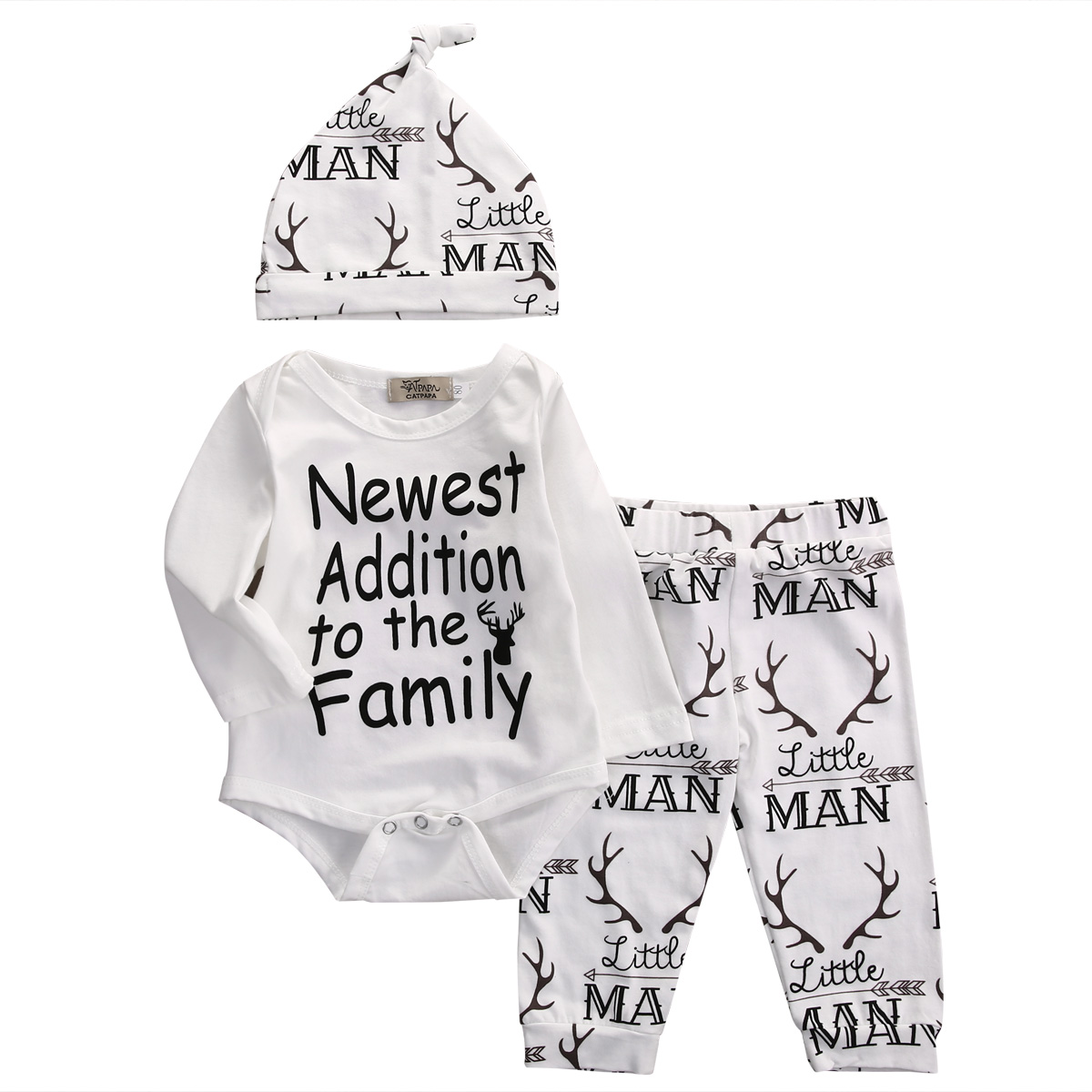 f1debff1c 2016 Autumn style baby boy clothes fashion cotton baby girl clothing set  casual Deer romper+