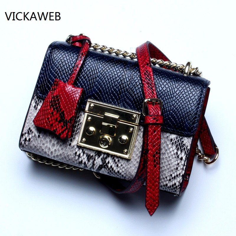 famous brand women handbag genuine leather shoulder bag luxury serpentine pattern ladies crossbody bags with chain famous brand women bag design classic hollow out lace real leather shoulder bag ladies party handbag luxury crossbody bags