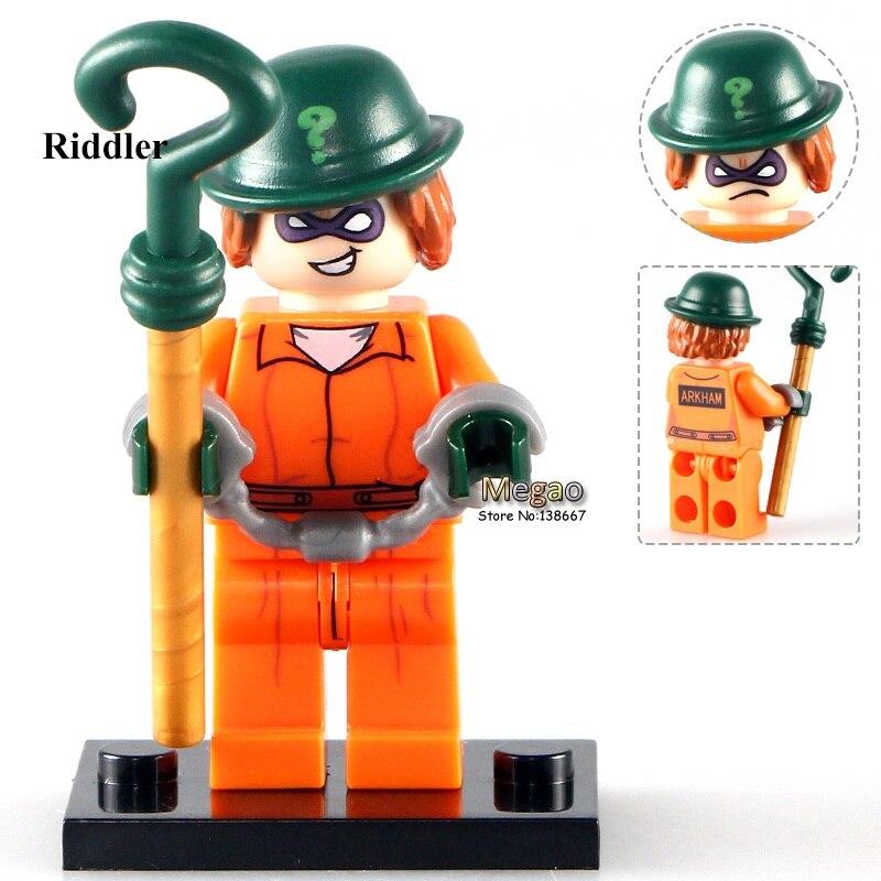 50pcs lot PG142 The Riddler 2017 The Batman Movie Arkham Asylum 70912 Building Blocks Toys for