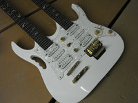double neck guitar whtie finish basswood body rosewood frebotard maple neck 6 and 6 strings guitar electric guitar