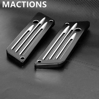 Motorcycle Accessories Contrast Saddlebag Latches Cover Face For Harley 93 13 Metal Parts Black