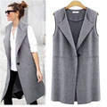 Big Size Single Button Brief Women's Vests Summer Sleeveless Coats Female Spring Waistcoat Turn-Down Collar Vest Casual Cardigan