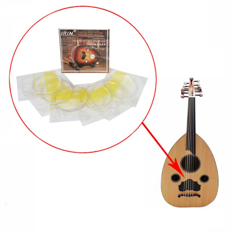 Oud String Middle East Lute 12 String Nylon Silver-Plated O102 022-033
