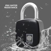USB Charging Fingerprint Lock Smart Baby Safety Lock Security Cabinet Locks for Children Keyless Waterproof Door Lock Padlocks