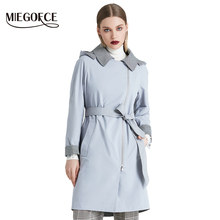 MIEGOFCE 2019 New Product Trench Spring Autumn Female Windproof Warm Female Coat European and American Model Windbreaker(China)