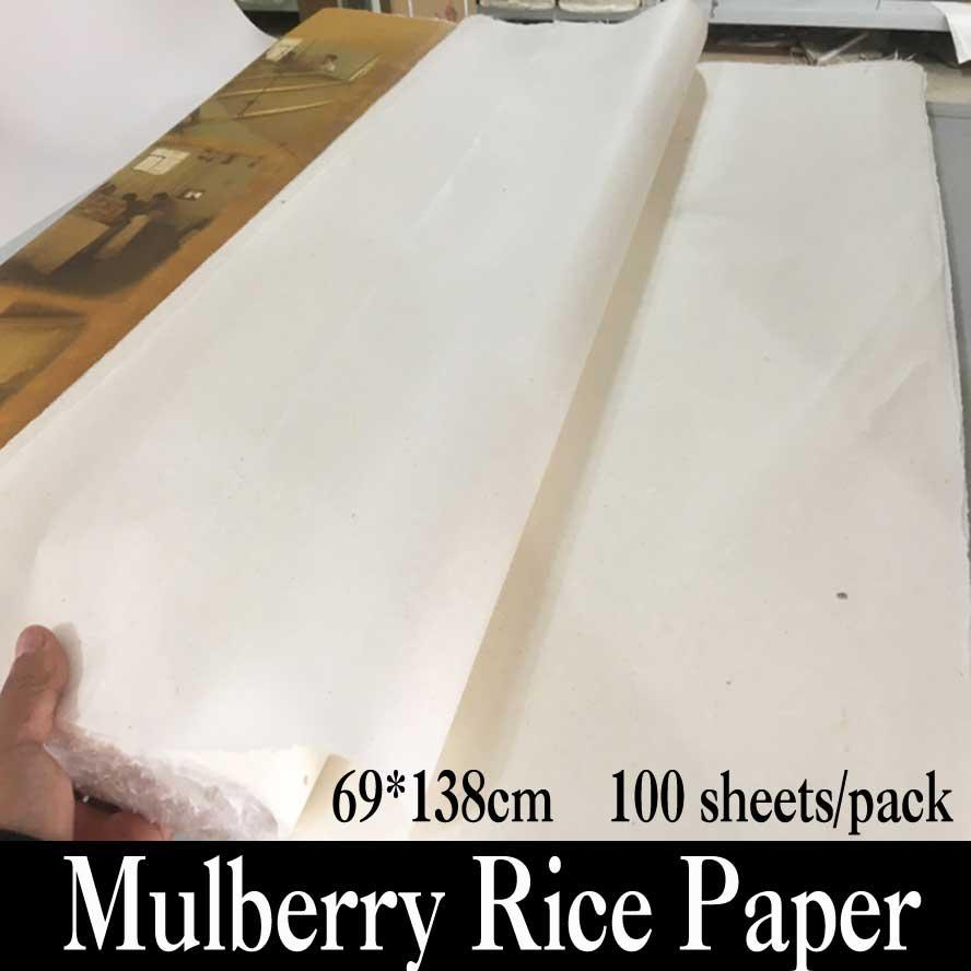 Chinois Mulberry Papier Peinture Calligraphie Fournitures peu De Fiber De Riz Papier Xuan Papier Artiste Cadeau