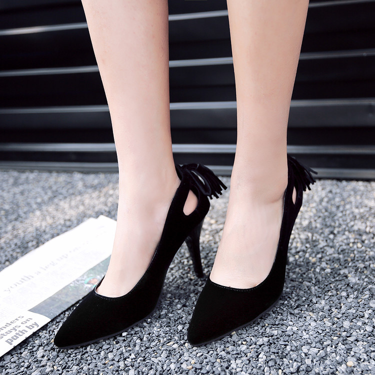 Big size 34-51 Shoes Woman 2017 New Arrival Wedding ladies high heel shoes Fashion Sweet Dress pointed toe Women Shoes Pumps E-8 blue extrem high heel shoes 2018 snake printing women shoes fashion shallow mouth pumps woman wedding shoes big size