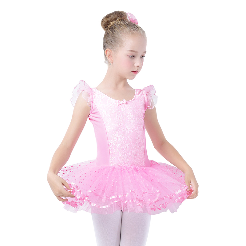 Sales Toddler Girls Ballet Tutu Dress Sequin White Tutu Leotards Ballet Dress Sleeveless Gymnastics Swim Suit For Dancing