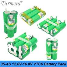 Аккумулятор vtc6 3S 12,6 V 4S 16,8 V US18650VTC6 3000mah 30A ток разряда для шуруповерта батареи(по индивидуальному заказу